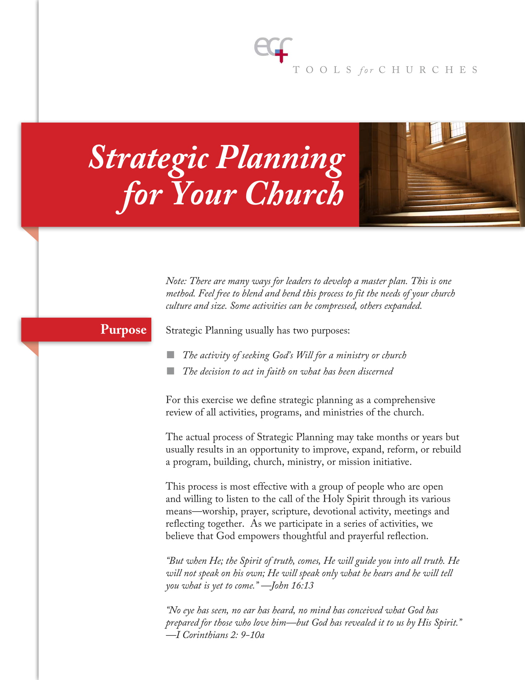 strategic planning for your church example 1