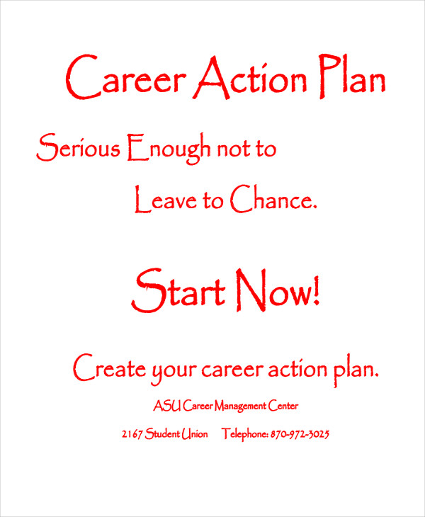 student career action plan example