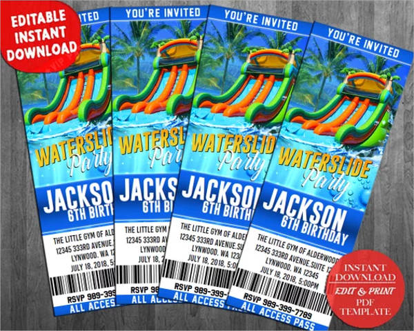 summer party ticket design example