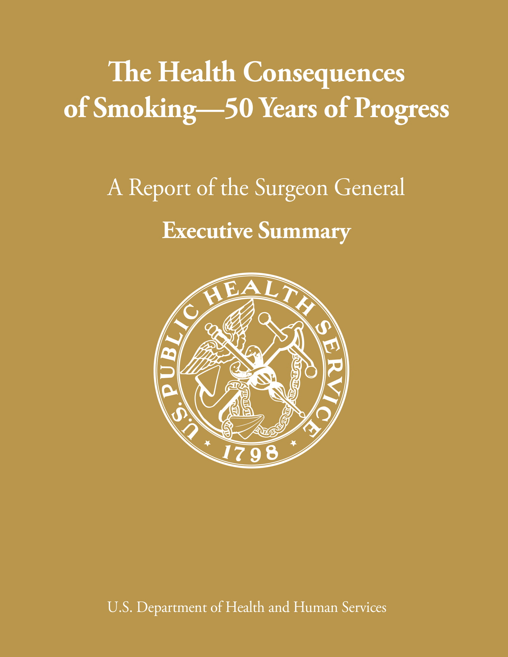surgeon general report executive summary example