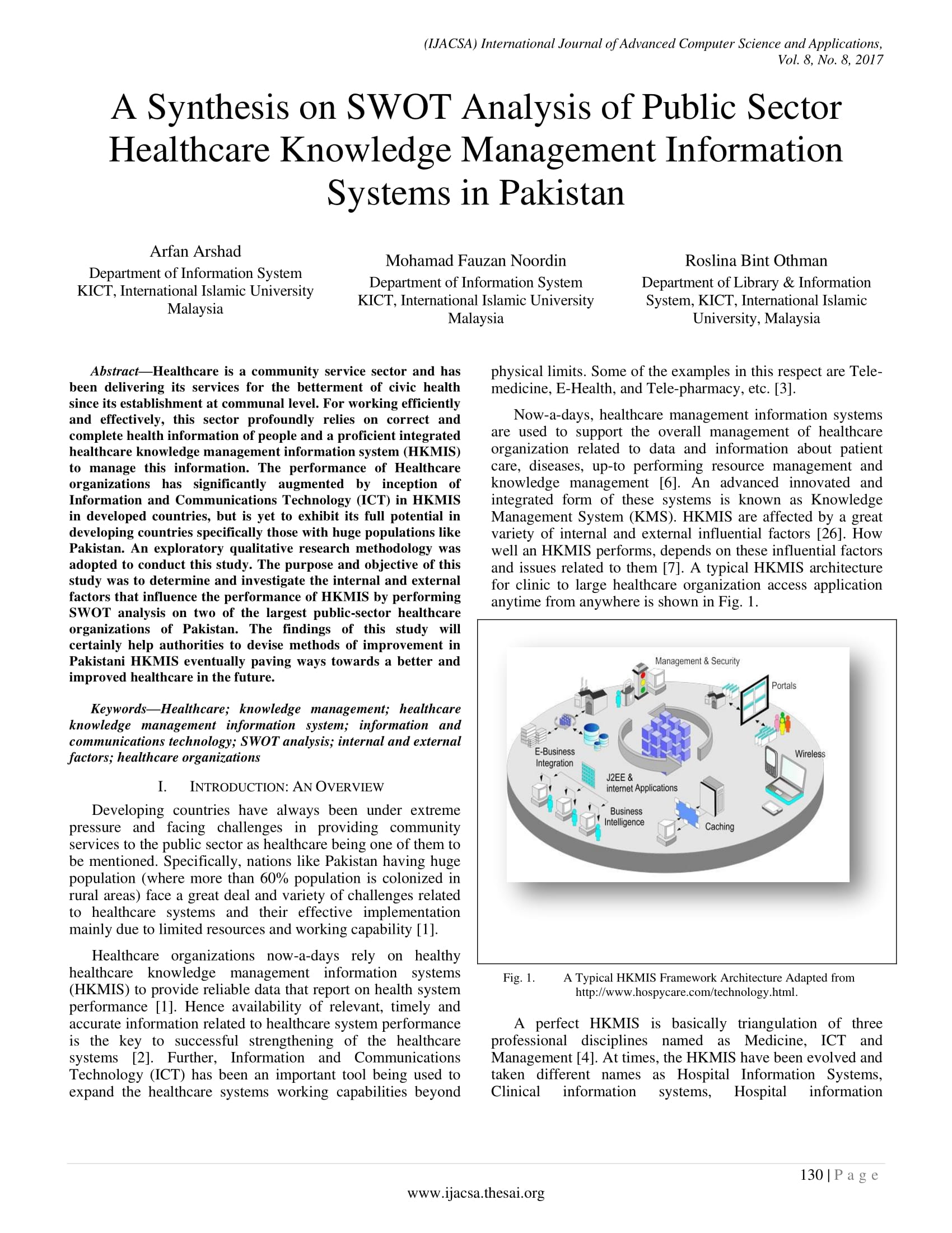 synthesis on swot analysis of public sector healthcare knowledge management information systems example 1