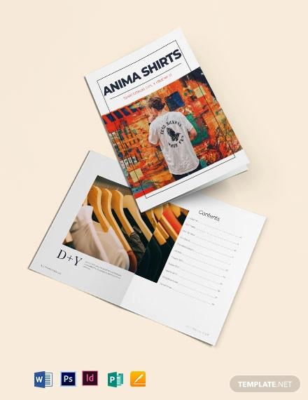 t shirt catalog template