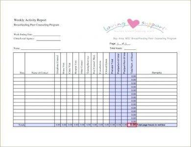 tabular weekly activity report sample1