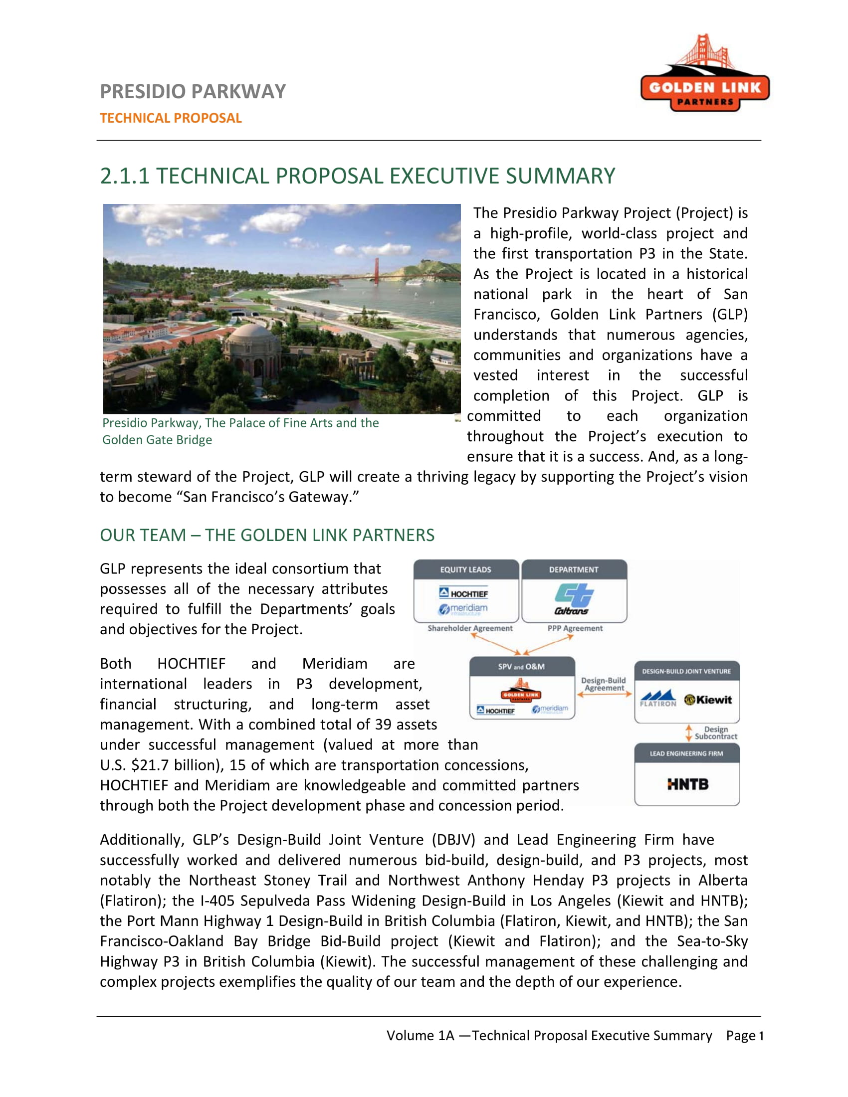 technical proposal executive summary example