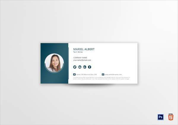 technical writer email signature template