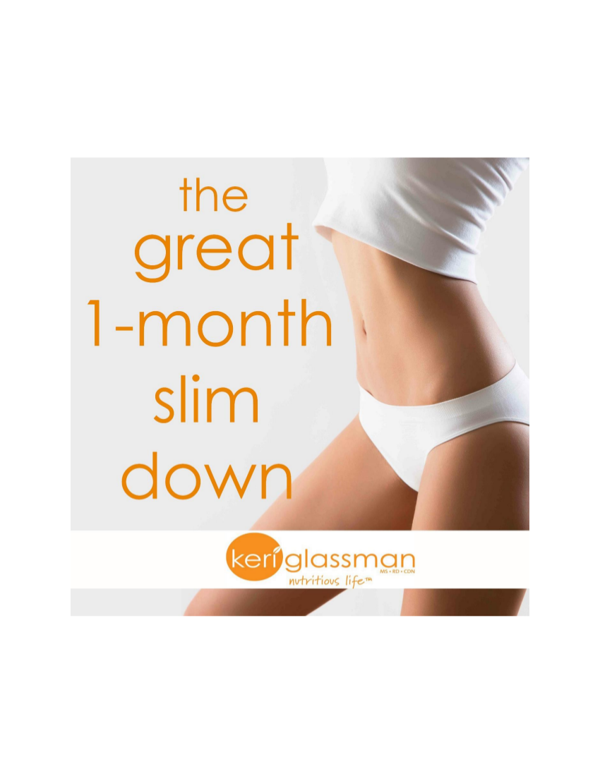 the great 1 month slim down meal plan example