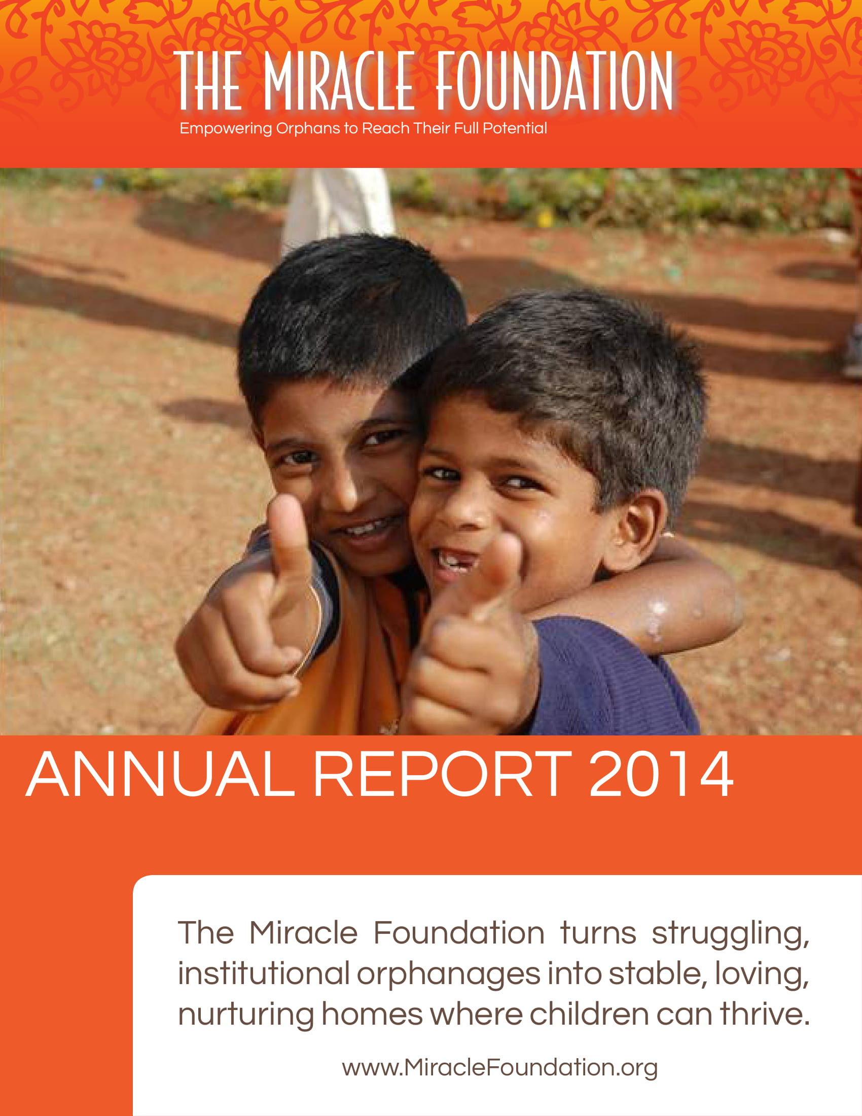 the miracle foundation ngo annual report example