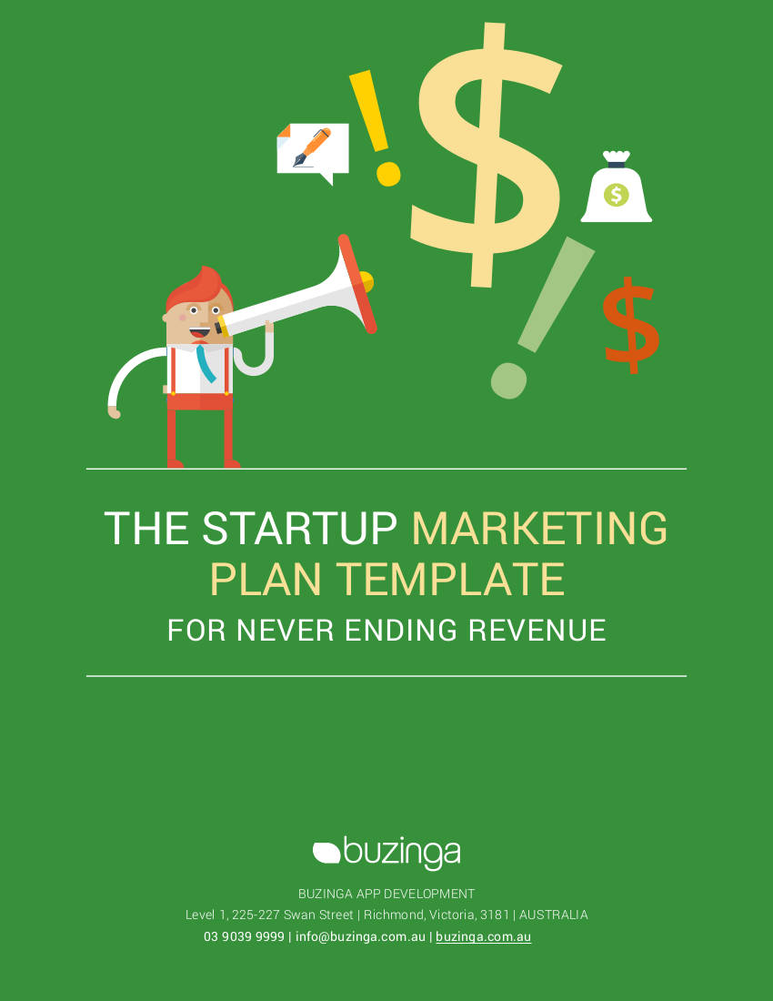 the start up marketing plan template