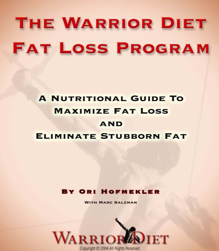 the warrior diet fat loss program example