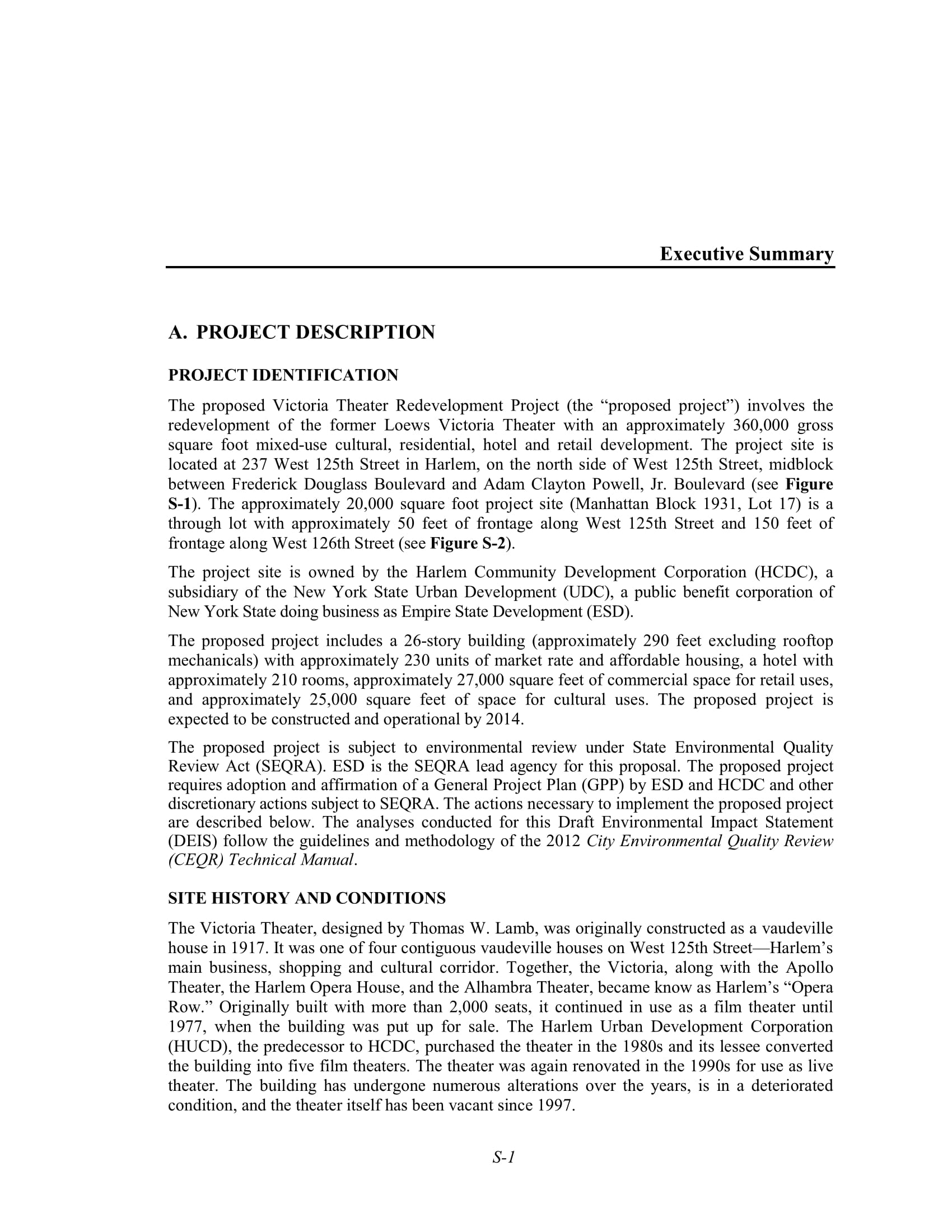 theater redevelopment project proposal executive summary example