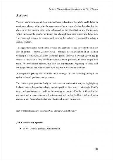 14+ Hotel Business Plan Examples - PDF, Word, Google Docs, Apple