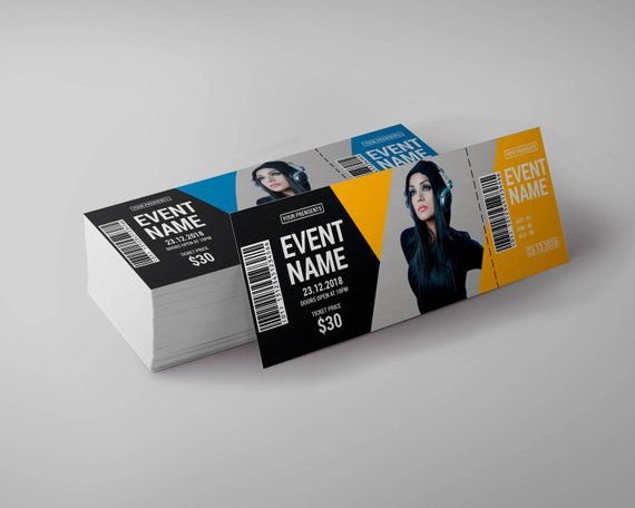 tickets for event show time template example