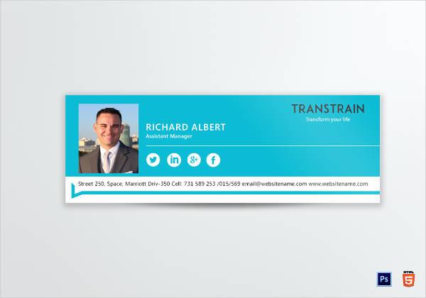 training institute email signature design example