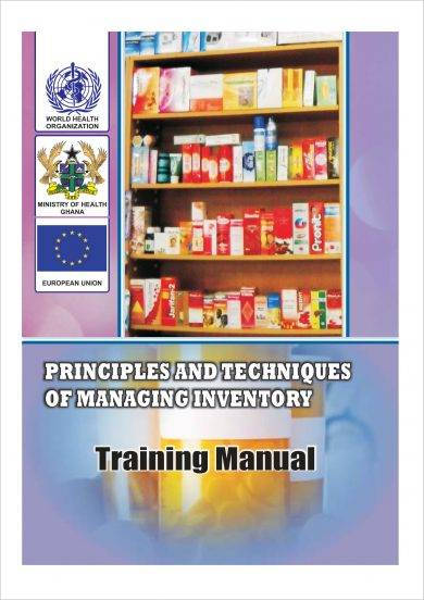 training manual for principles and techniques of managing inventory example