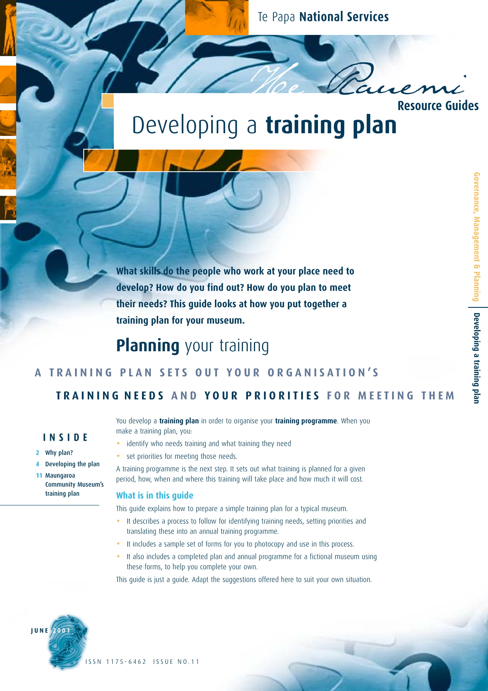 training plan development for a business project example 01