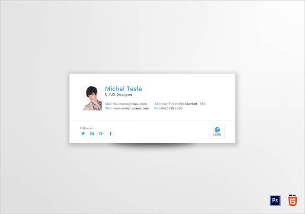 ui ux designer email signature design example