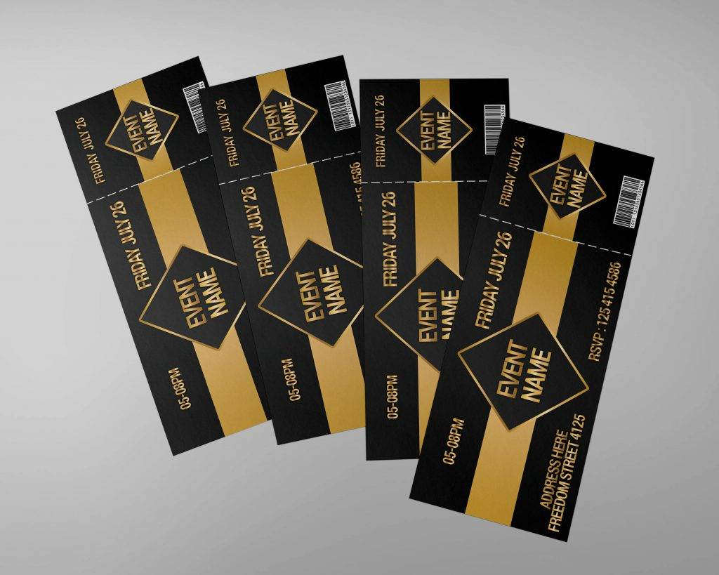vip event invitation ticket example 1024x819
