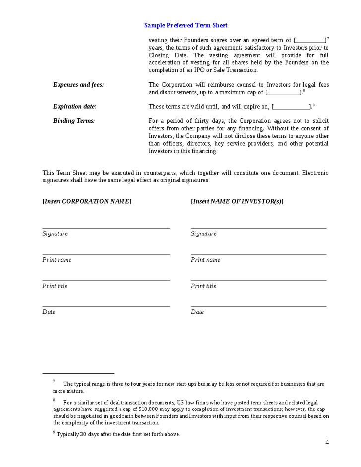 11 venture capital investment agreement examples pdf word venture capital investment term sheet sample maxwellsz