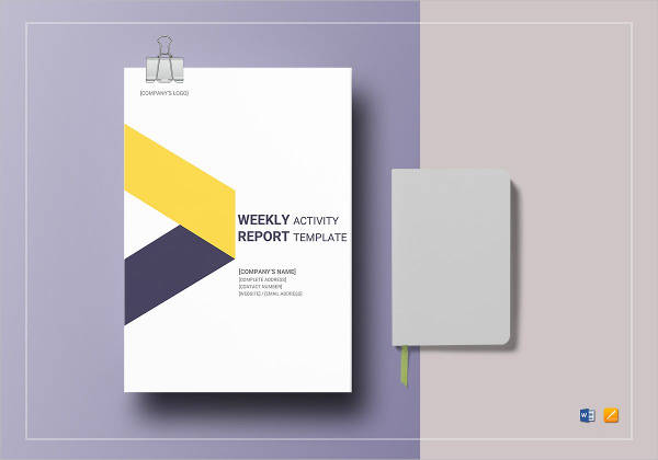 weekly activity report design