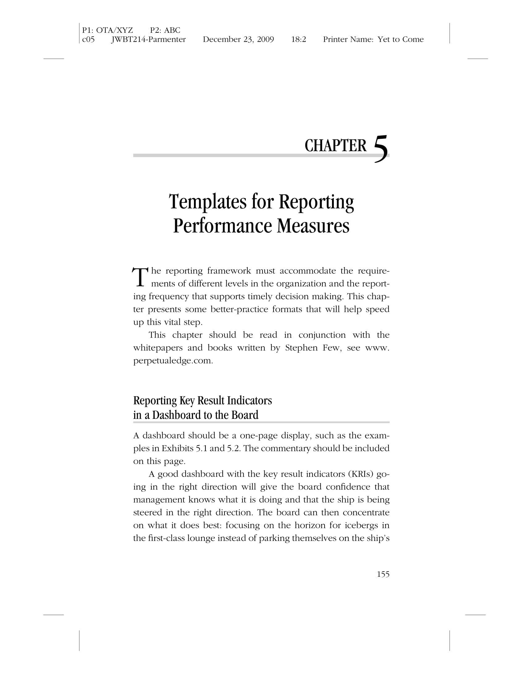 weekly operations and performance measures report template example 01