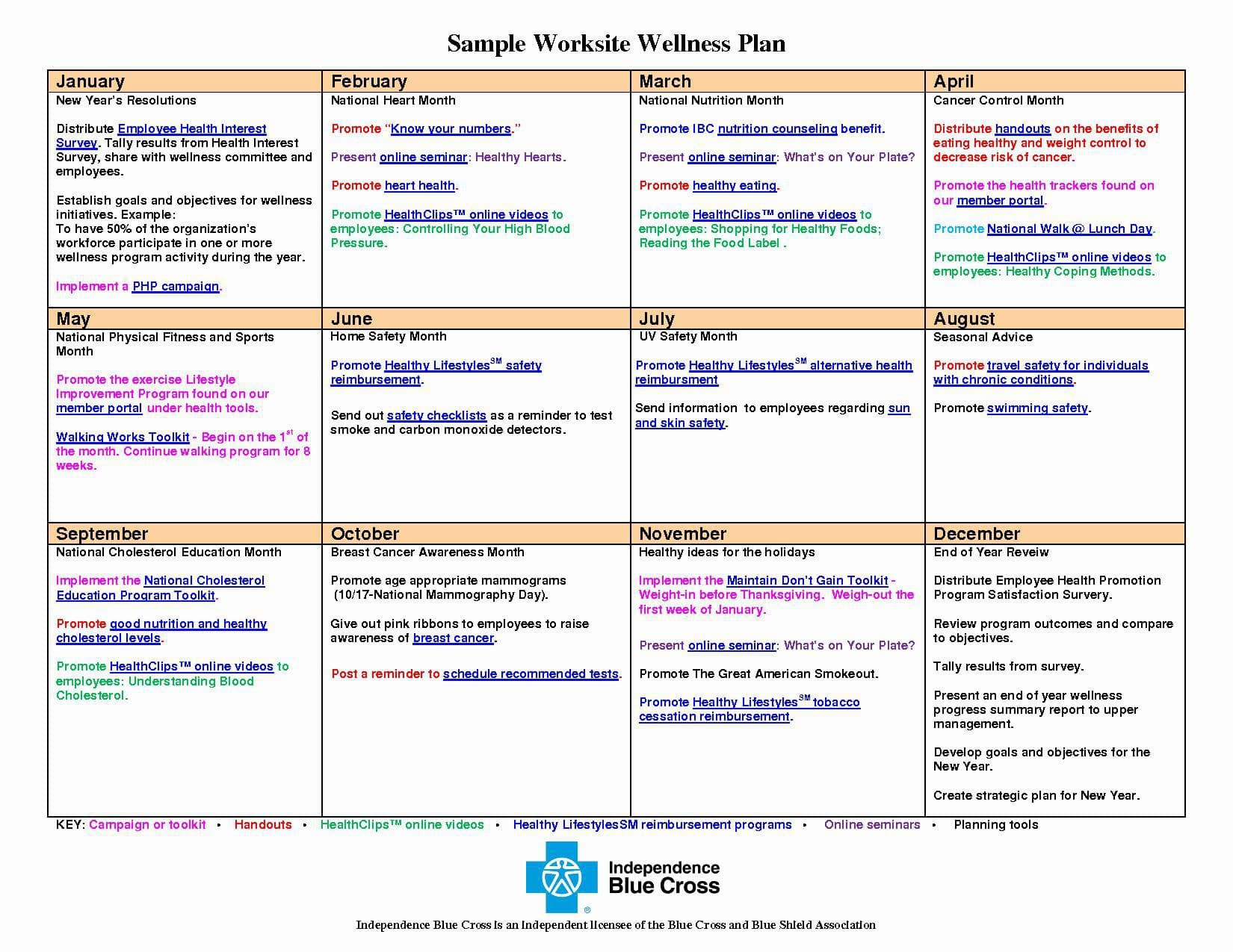 wellness recovery action plan calendar example