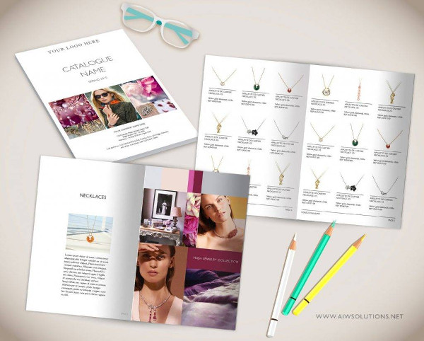 wholesale jewelry catalog template example