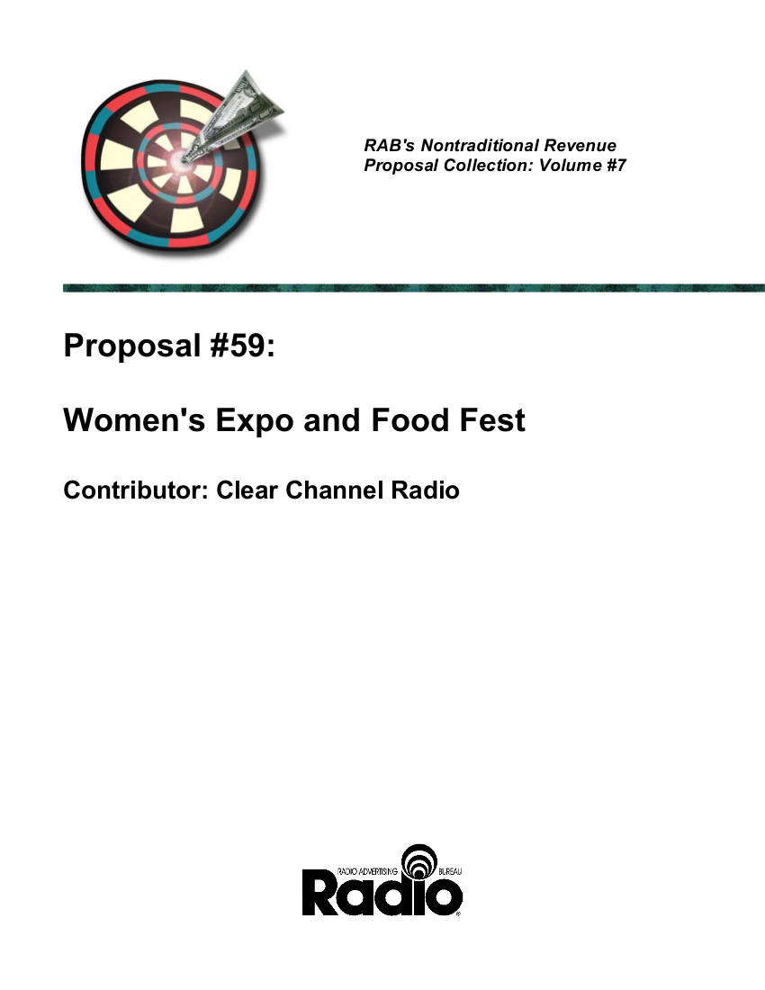 women's expo and food fest event proposal example