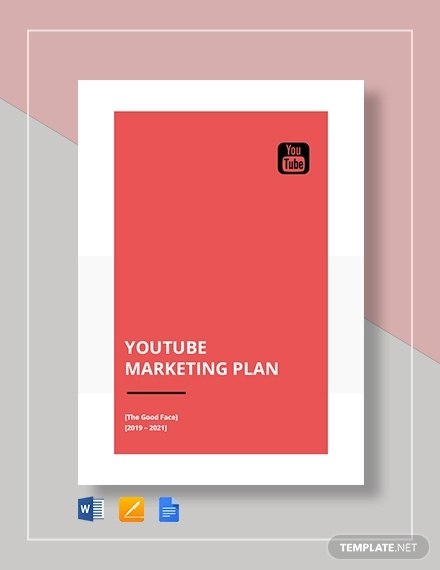 youtube marketing plan template