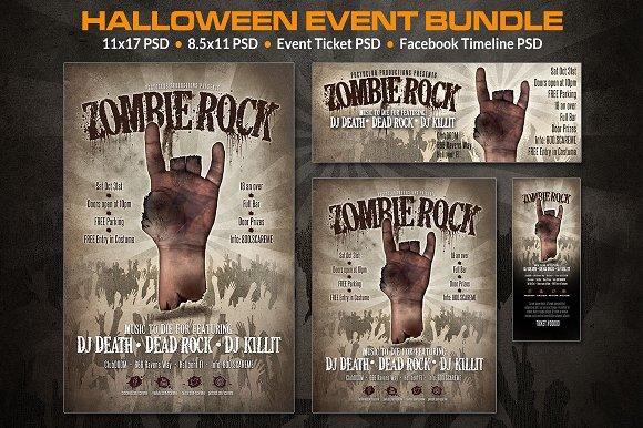 zombie rock halloween event ticket