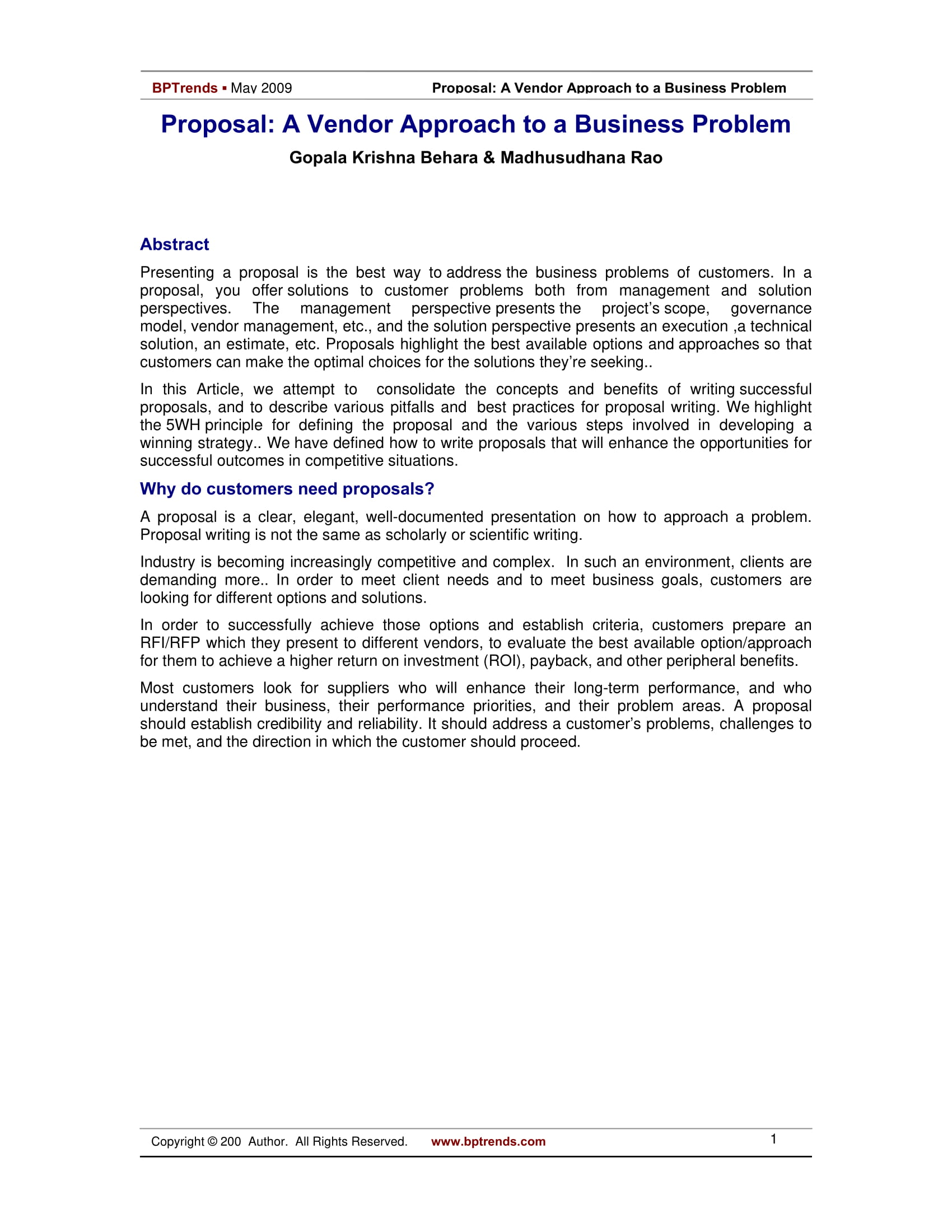 8 Business Problem Solving Proposal Examples Doc Pdf