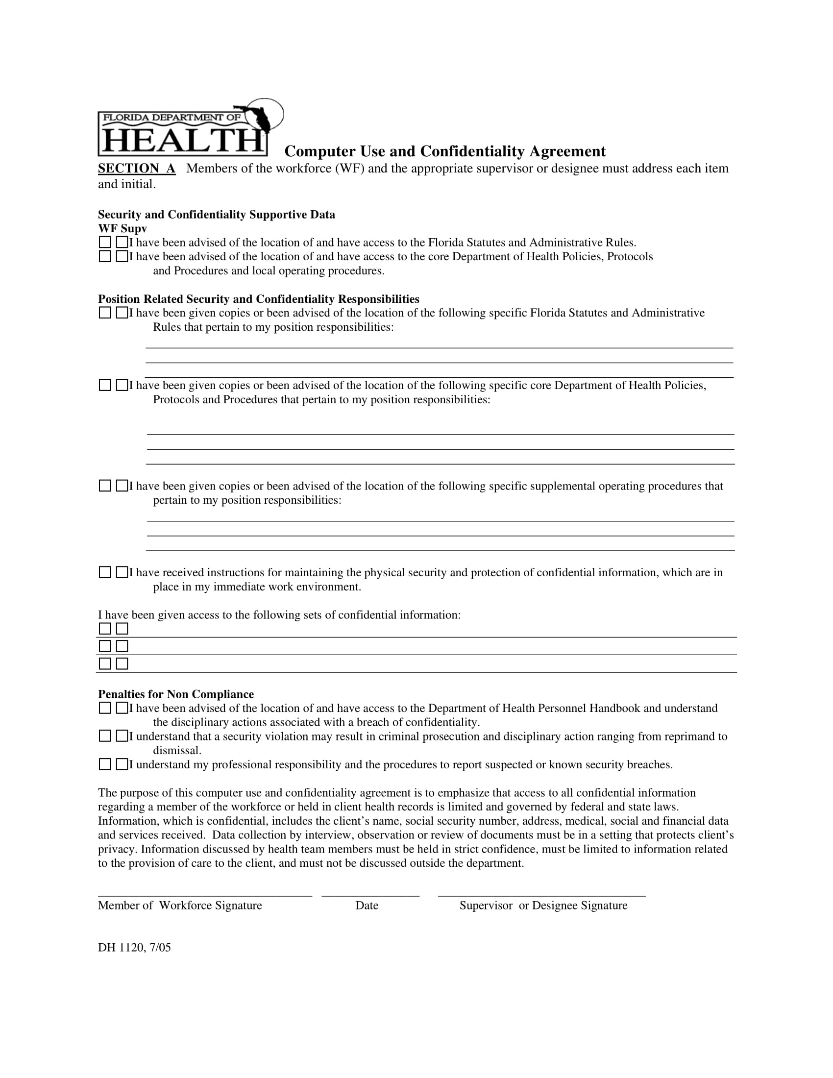 computer use and confidentiality agreement