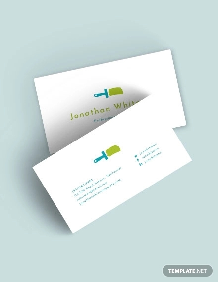 creative painter business card
