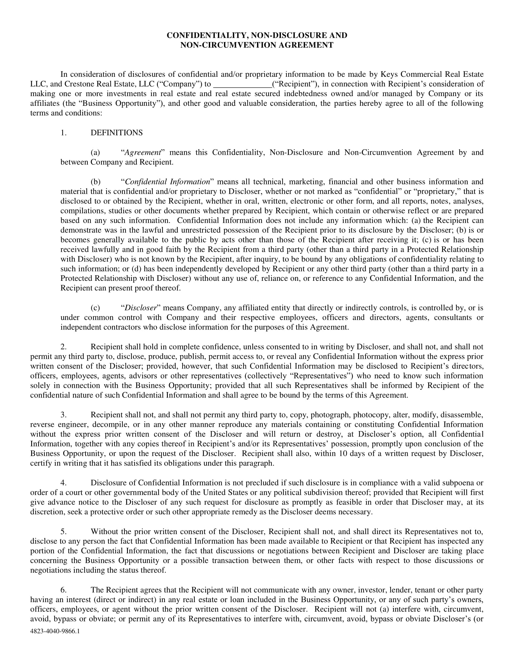 10 Real Estate Confidentiality Agreement Examples Doc Pdf