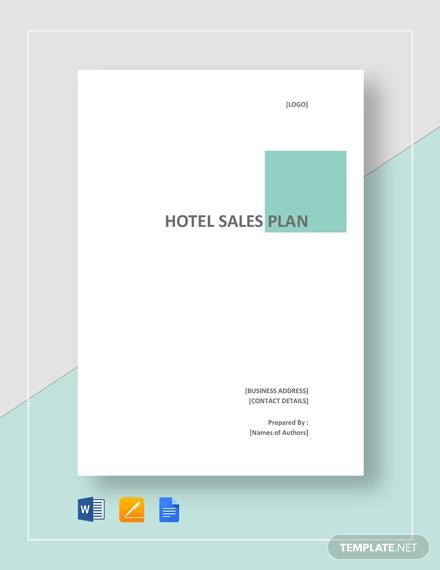 hotel sales plan