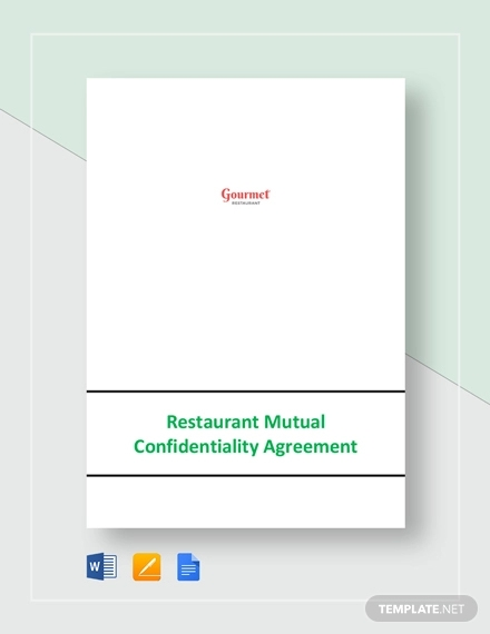 restaurant mutual confidentiality