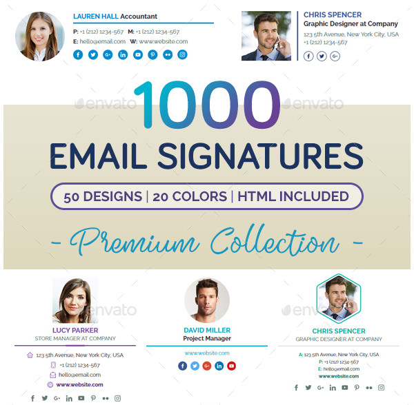1000 innovative email signature design choices1