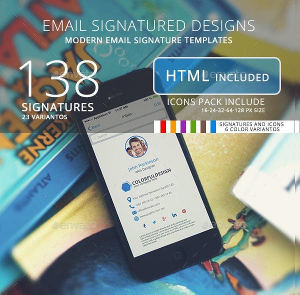 138 email signature designs1