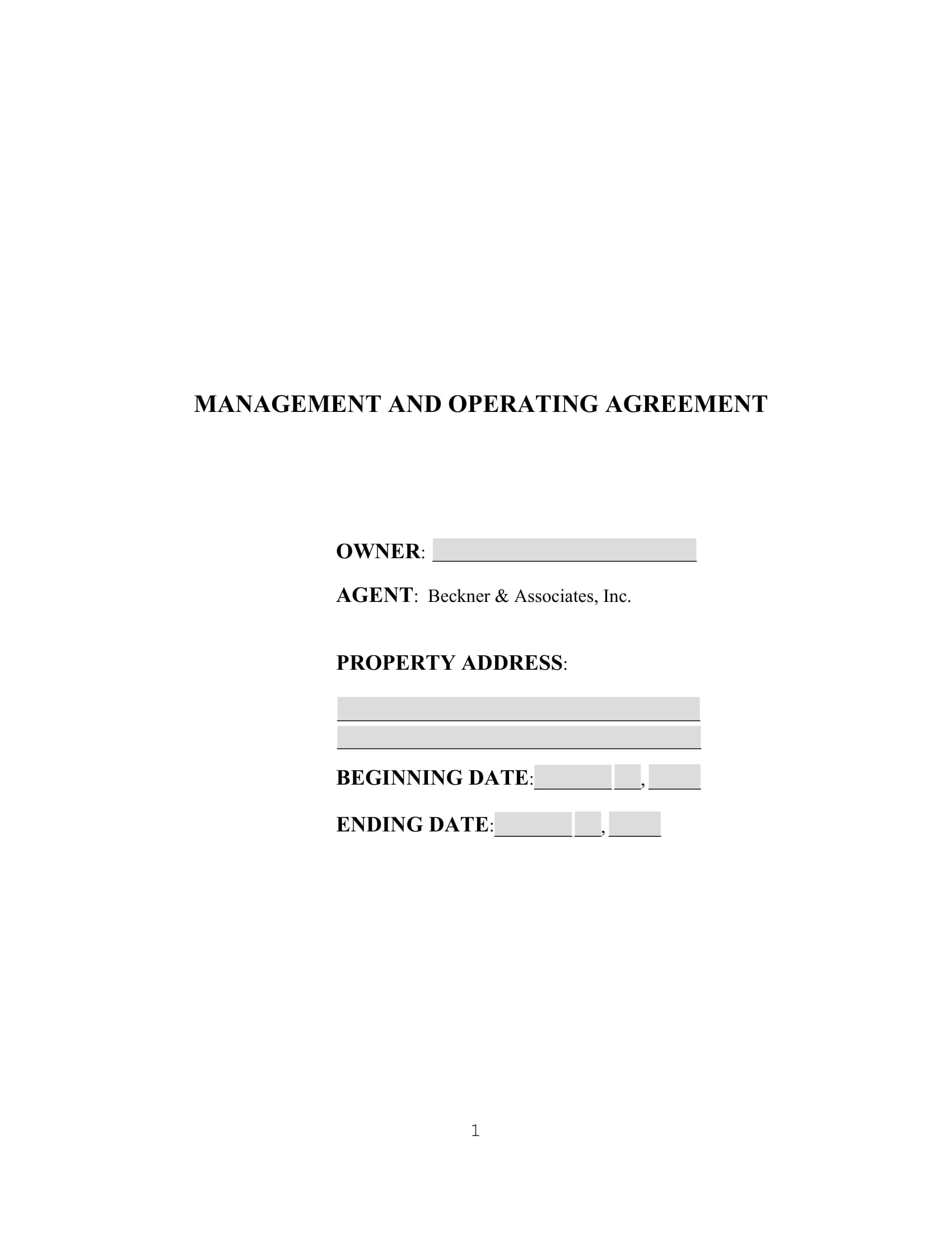 2007 management agreement