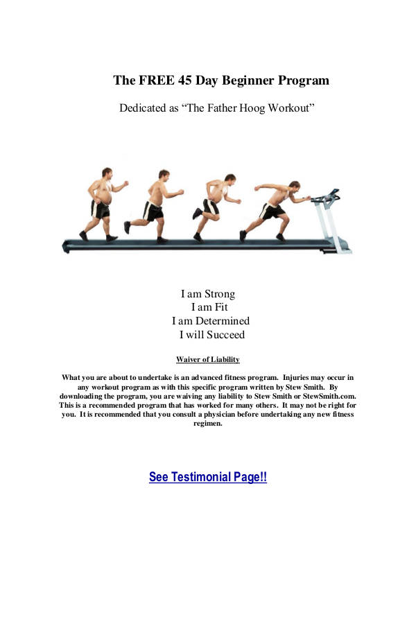 physical fitness plan example