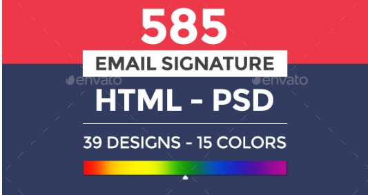 585 electronic store email signature example