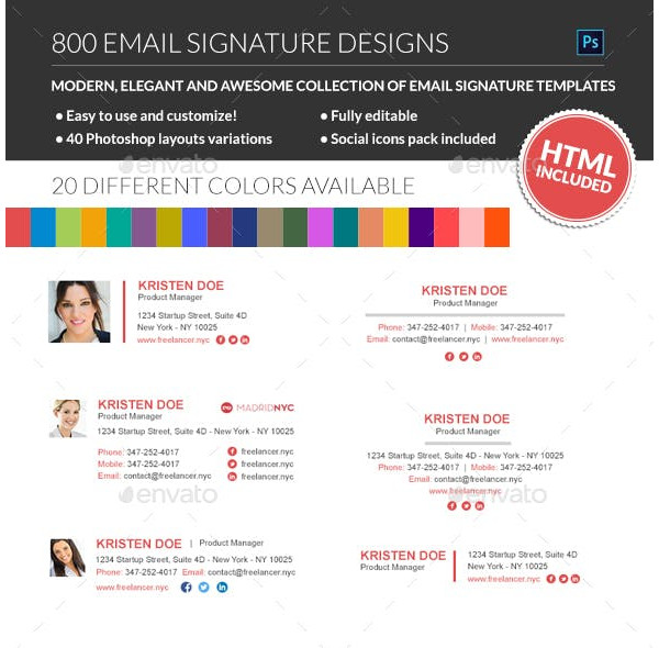 800 innovative email signature templates1