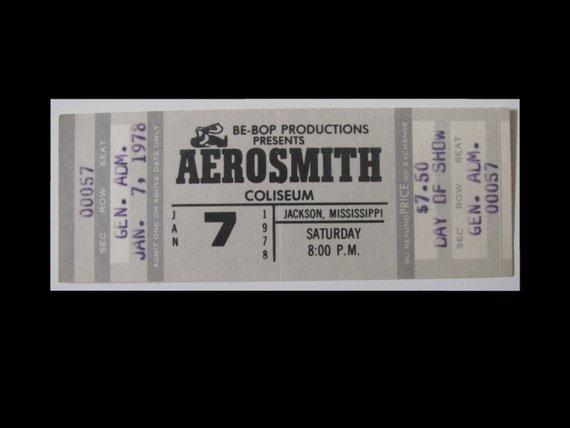 aerosmith live concert ticket example