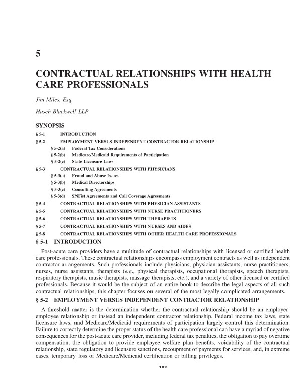 agreement template contractual relationships with massage therapists and other health care professionals example