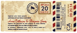 airline wedding boarding pass ticket invitation