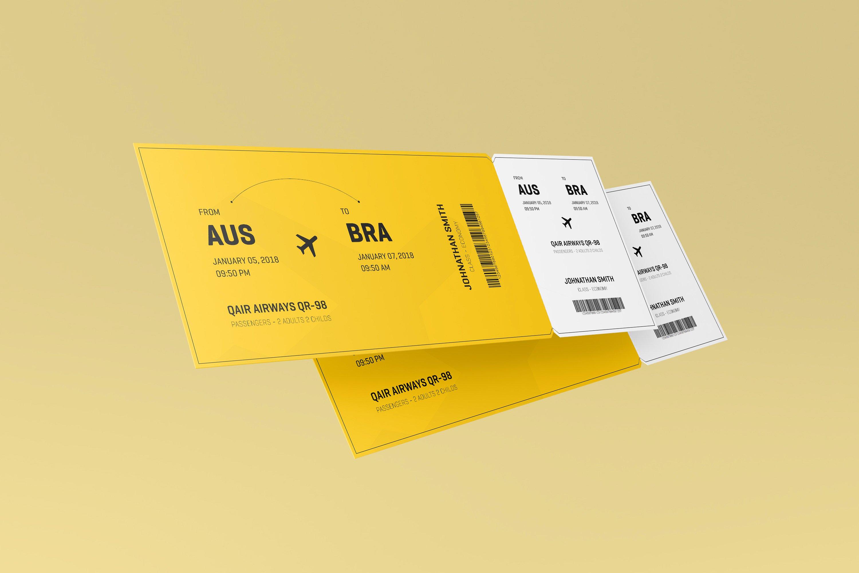 airplane movie ticket invitation example