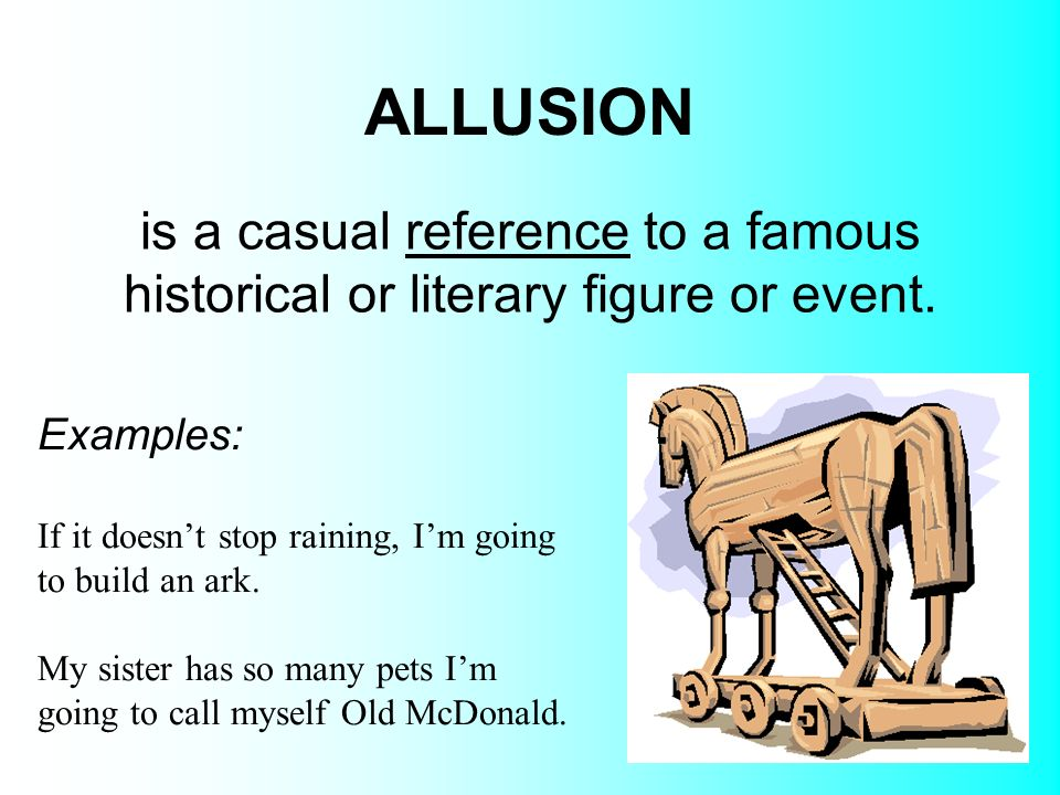 Allusion examples, definition and worksheets | kidskonnect.
