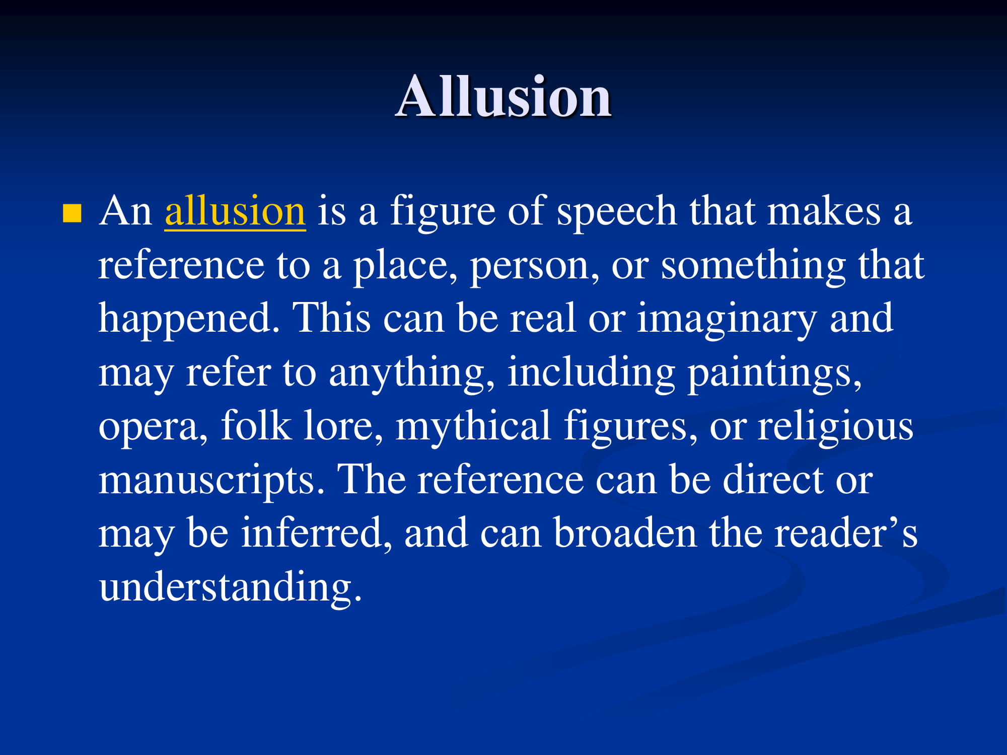 allusion notes example