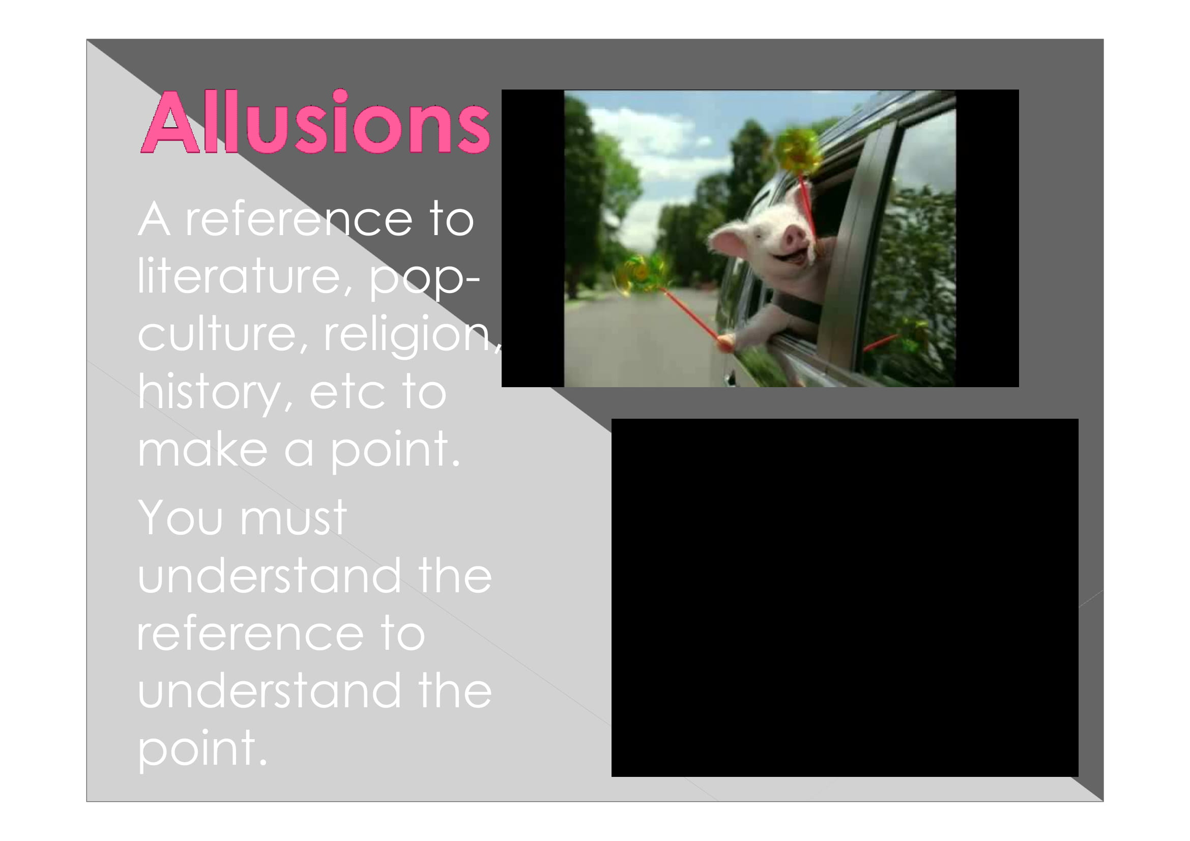 allusions powerpoint example