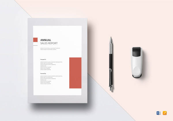 annual sales report template to print
