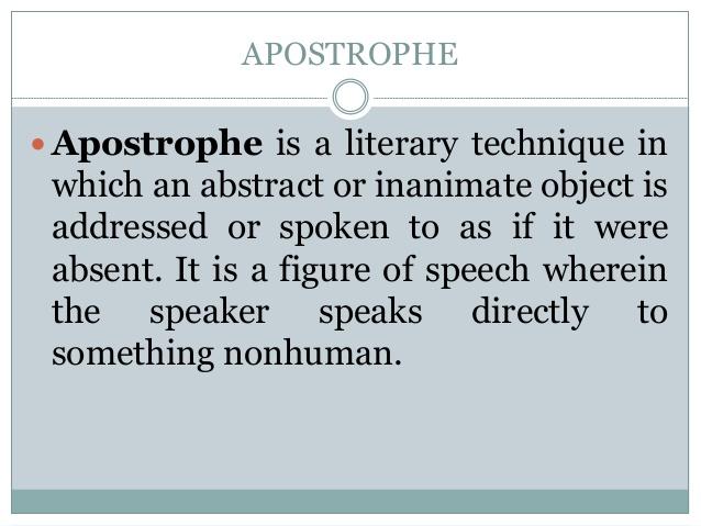 apostrophe as a literary technique